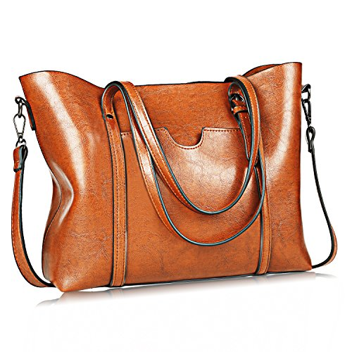 JUNDUN Women Bag Casual Vintage Shoulder Bag Handbags Cross Body Bag Large Capacity Bags Brown