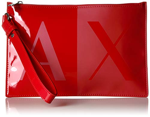 A|X Armani Exchange Two Tone Pouch, red