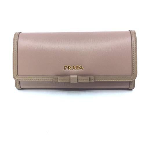 Prada Women's Snap Closure Wallet Cammeo Beige Detachable ID Card 1MH132