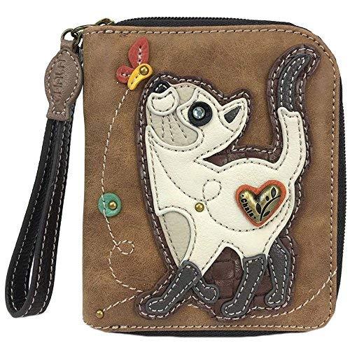 Chala Slim Cat Zip-Around Wristlet Wallet – Cat Lover Gift