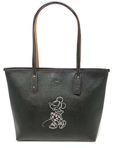 Coach X Disney Minnie Mouse Motif City Zip Tote Black Limited Edition F31207