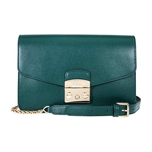 Furla Metropolis Ladies Small Green Cipresso Leather Shoulder Bag 978673