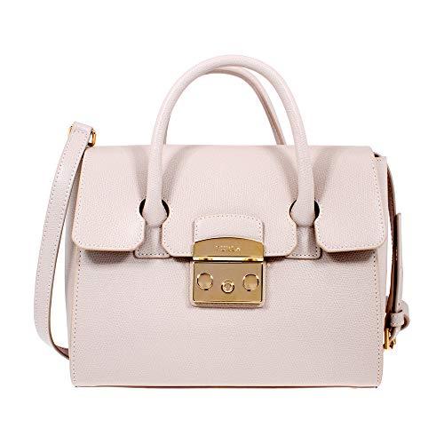 Furla Metropolis Ladies Small White Perla Leather Satchel 978180