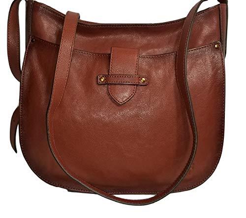 Frye Olivia Large Leather Crossbody Bag – Cognac