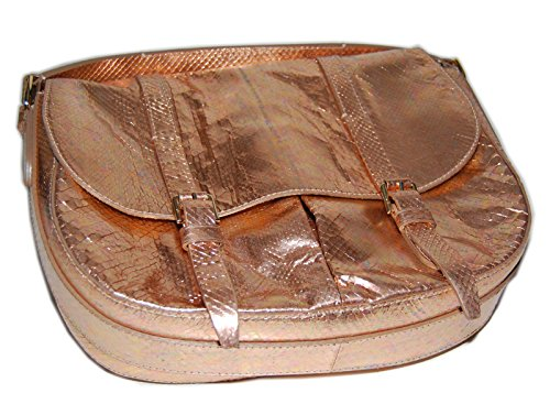 Ralph Lauren Collection Python Leather Purse Handbag Bag Tote Italy Pink Gold