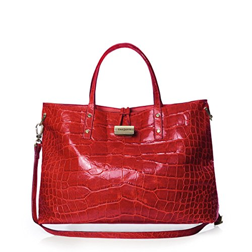 Eric Javits Luxury Fashion Designer Women's Handbag – Cheri – Red
