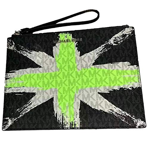 Michael Kors London Signature X-Large Clutch Wristlet – Neon Green