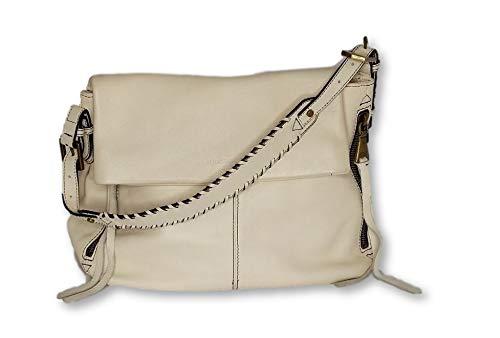 Aimee Kestenberg Size Medium Double Entry Leather Hobo – White Handbag A304720