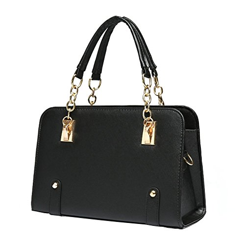 ILISHOP Women's New Fashion Shoulder Bags Top-handle Bags For Ladies Casual Cross-body Bags For Teens Hot Sale (Black)