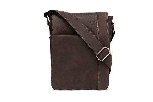 10″ Inches Genuine hunter Leather Cross Body Shoulder Bag Handmade Purse