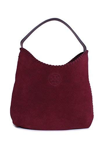 Tory Burch Women's Marion Suede Hobo Bag, Port, One Size
