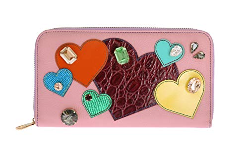 Dolce & Gabbana – Pink Leather Continental Clutch Wallet