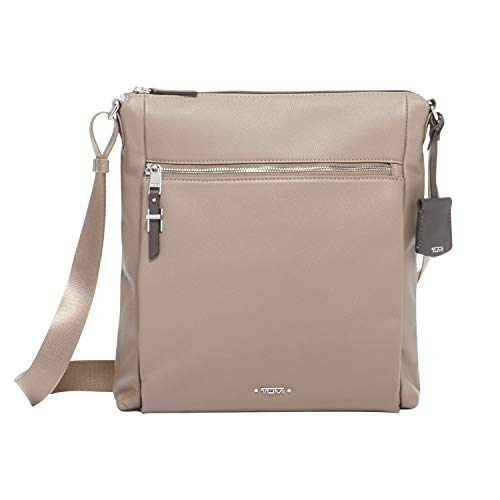 TUMI – Voyageur Canton Leather Crossbody Bag – Satchel Purse for Women – Gobi