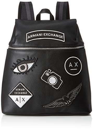 A|X Armani Exchange Patchwork Backpack, Nero