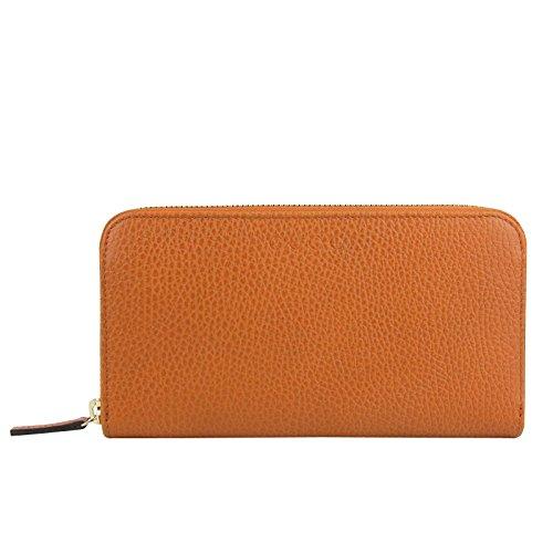 Gucci Zip Around Dark Orange Leather Long/Continental Wallet 363423 7614