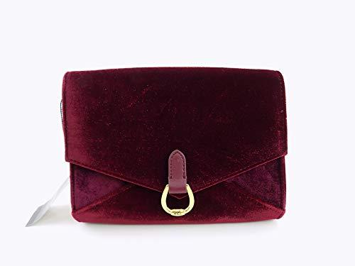 Ralph Lauren Women's Bennington Envelope Velvet Bag MERLOT