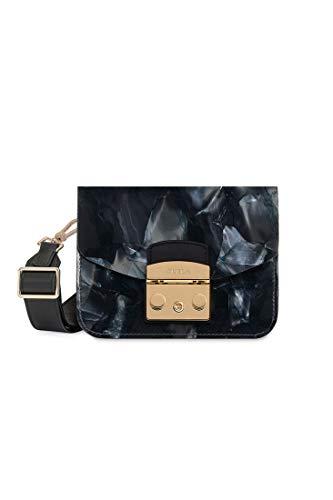 Furla Metropolis Bovisa Ladies One Size Two Tone Leather Crossbody Bag 1008846