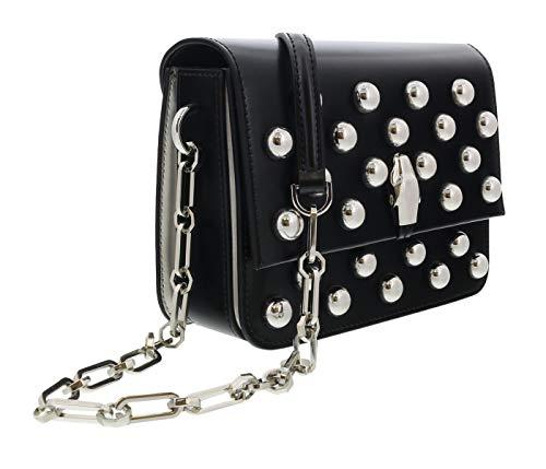 Roberto Cavalli HXLPGW 999 Black Studded Medium Shoulder Bag for Womens