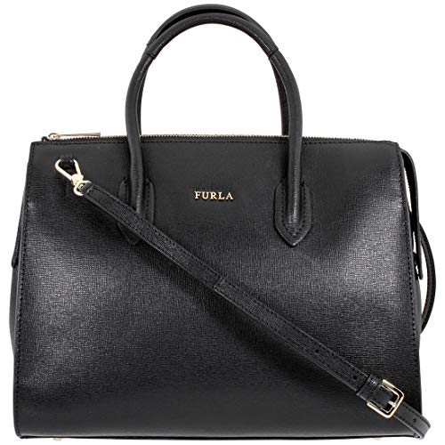 Furla Pin Ladies Medium Black Leather Satchel Bag 978807