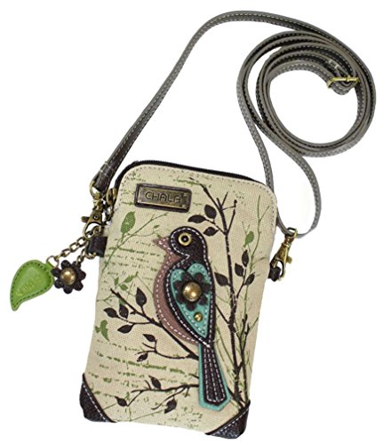 Chala Safari Bird Cellphone Crossbody Handbag – Convertible Strap Bird Lover