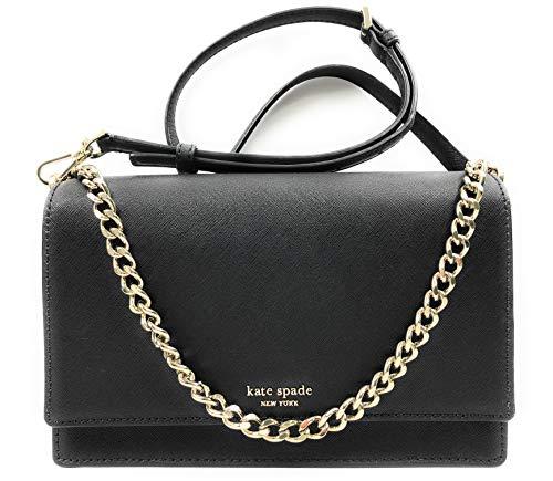Kate Spade New York Cameron Leather Shoulder/Convertible Crossbody Bag Black