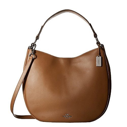COACH Women's Natural Calf Nomad Hobo SV/Saddle Hobo