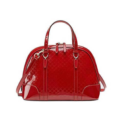 Gucci 309617AV12G Nice MicroGuccissima Red Leather Top Handle Bag