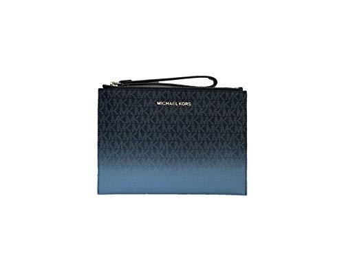 Michael Kors Jet Set Travel XL Zip Clutch – French Blue