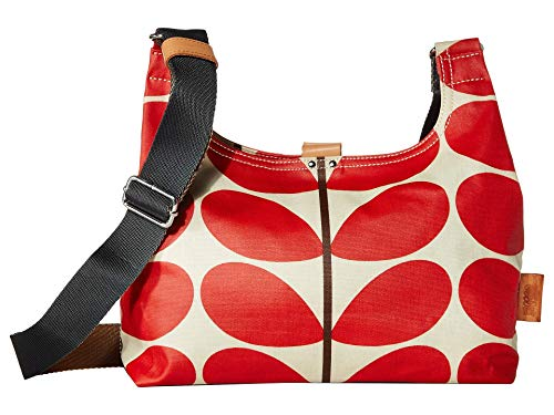 Orla Kiely Solid Stem Print Mini Sling Bag Red One Size