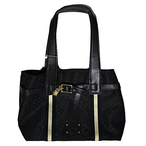 Tommy Hilfiger Pelham Shopper Handbag, Black Tonal