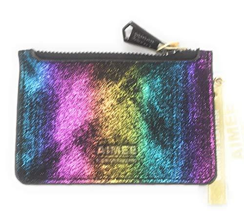 Aimee Kestenberg Melbourne CC Wallet Black Rainbow Shimmer