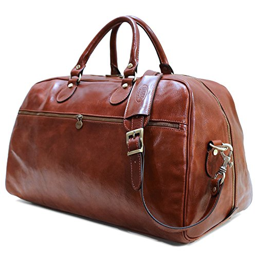 Floto Collection Sport Duffle in Vecchio Brown Italian Calfskin Leather
