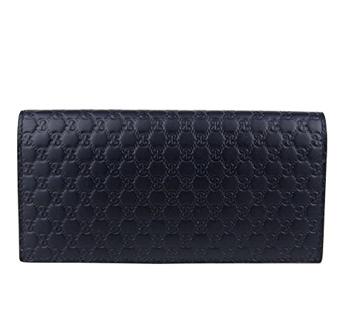 Gucci Microguccissima Blue Leather Wallet With ID window 449245 4009