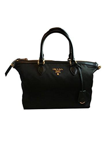 Prada Women's Black Tessuto Handbag 1BA104