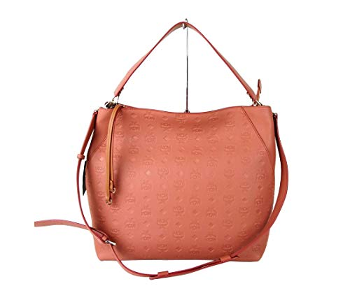MCM Women's Pink Cocoa Leather Large Hobo Crossbody Bag MWH8AKM55PW001