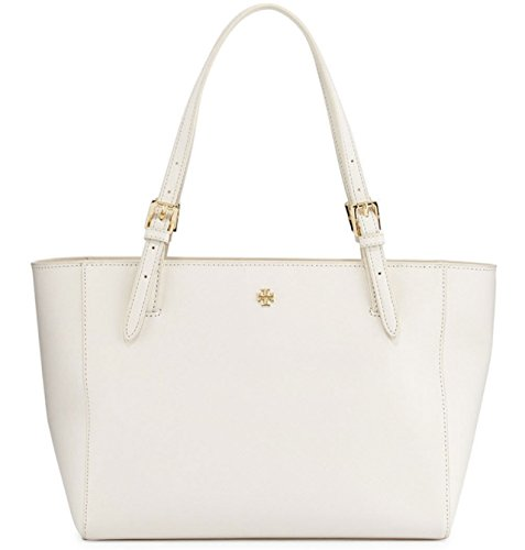 Tory Burch Emerson Small Buckle Tote York Shoulder Bag New Ivory White
