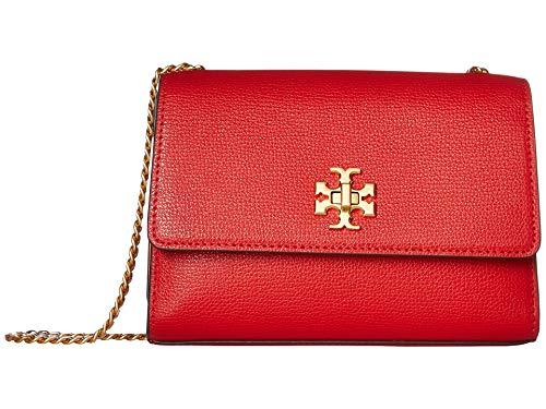 Tory Burch Kira Leather Mini Crossbody Handbag in Brilliant Red