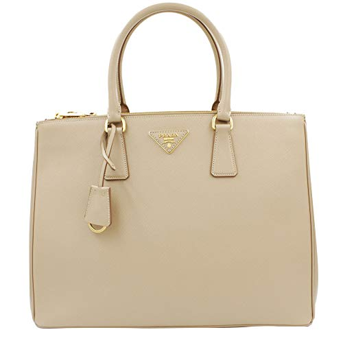 Prada Women's Tote Bag Saffiano Leather in Cammeo Style 2274