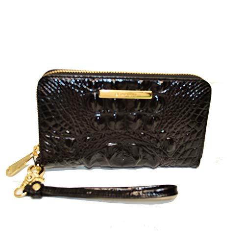 Brahmin Riley Zip Clutch wristlet Wallet Black Melbourne