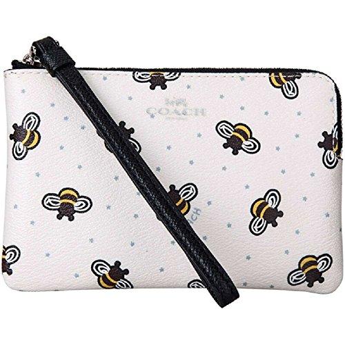 COACH Limited Edition Bumble Bee Print Corner Zip Wristlet