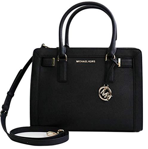 MICHAEL Michael Kors Dillon Medium Satchel Shoulder Bag – Black
