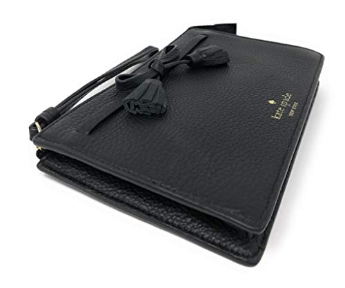 Kate Spade Hayes Pebbled Leather Leather Wristlet Black
