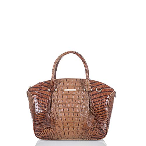 NEW AUTHENTIC BRAHMIN PEYTON CONVERTIBLE SHOULDER SATCHEL (Toasted Almond Melbourne)