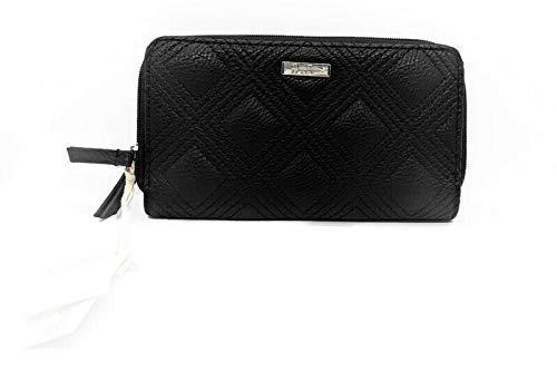 Jessica Simpson Sadie Double Zip Around Wallet/Wristlet (7.75″x4.5″), Black (JS14210)