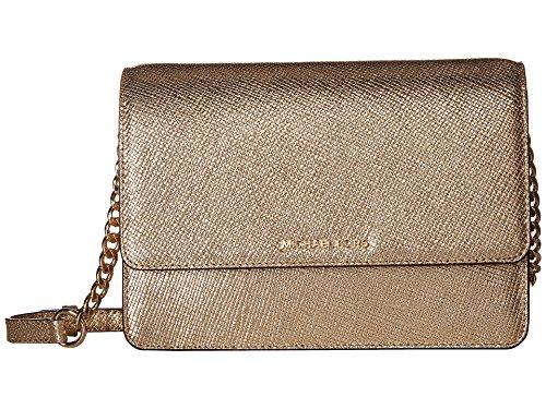 Michael Kors Women's Gold Leather Large Crossbody Bag