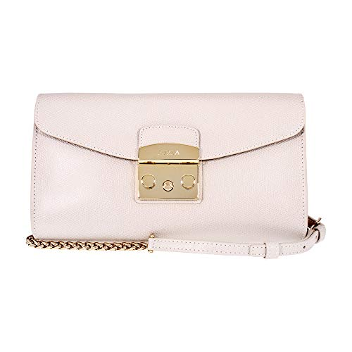 Furla Metropolis Ladies Small White Perla Leather Pochette 978072