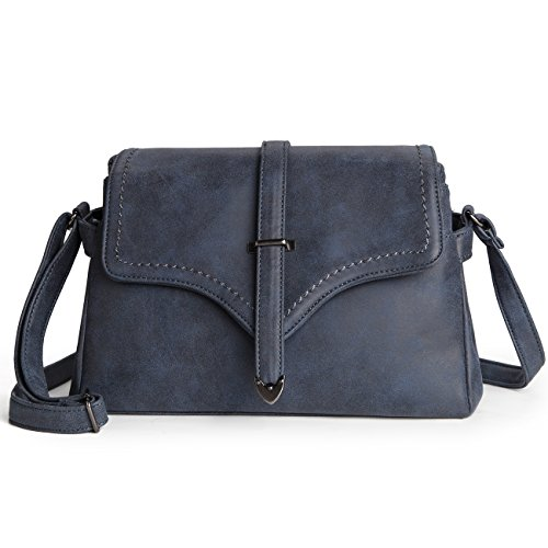 Women Shoulder Bag Pu Leather Crossbody Messenger Bag Elegant Flap Satchel Bag