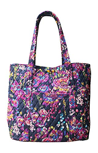 Vera Bradley Vera Tote Bag, Midnight Wildflowers