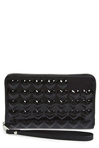 Marc Jacobs Embossed Heart Leather Smartphone Wallet – Black