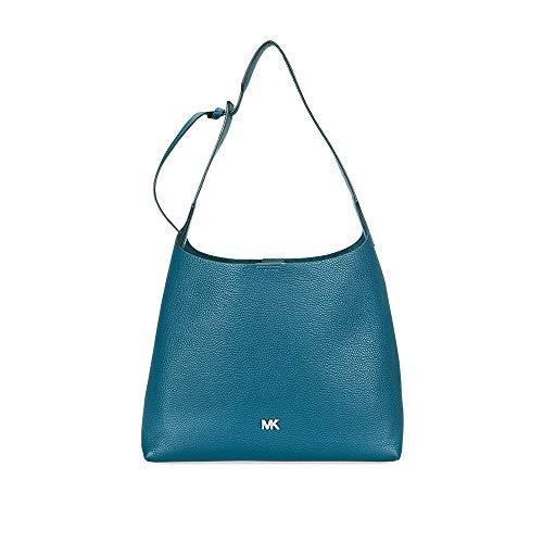 Michael Kors Pebbled Leather Shoulder Bag- Teal
